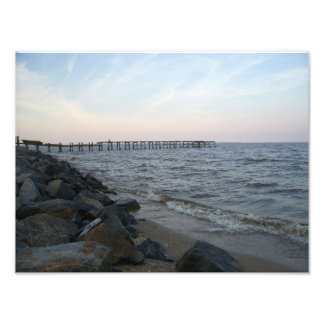 Pier in Colonial Beach, Virginia Photo Print