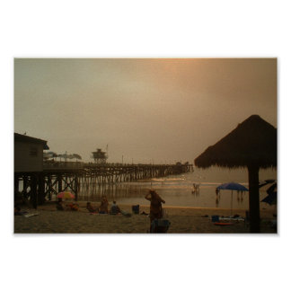 Pier In San Clemente, California Poster