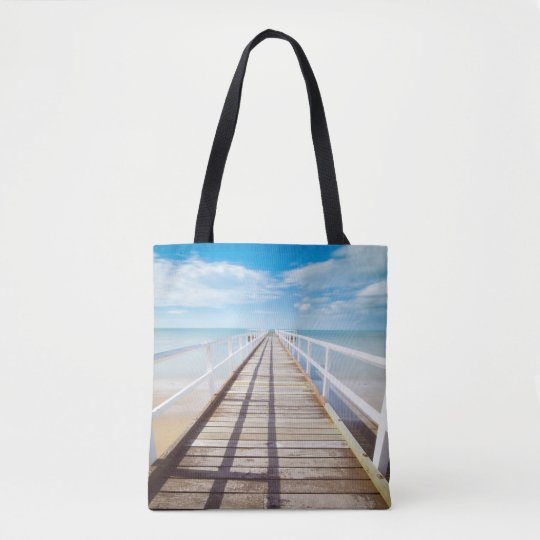 Pier Into The Caribbean Tote Bag
