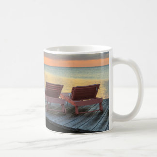 Pier overlooks the ocean, Belize Coffee Mug