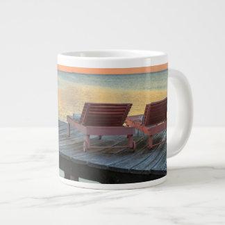 Pier overlooks the ocean, Belize Giant Coffee Mug