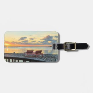 Pier overlooks the ocean, Belize Luggage Tag