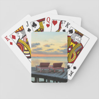 Pier overlooks the ocean, Belize Playing Cards