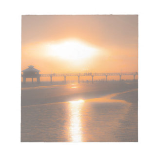 """""""Pier""""ring Over the Sunset Notepad"""