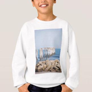 pier with rocks sweatshirt