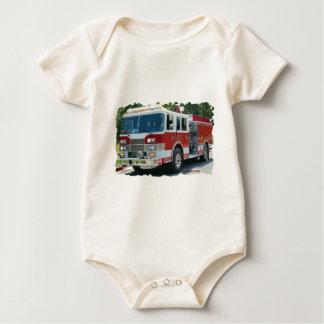 Pierce fire truck baby bodysuit