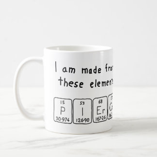 Pierce periodic table name mug