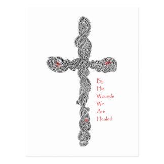 Pierced Cross - Isaiah 53:5 Postcard