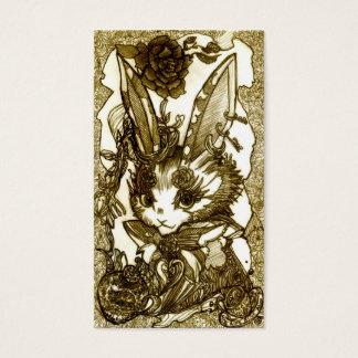 Pierced earring rabbit business card