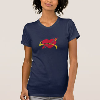 Pierced Heart-Navy Blue T-Shirt