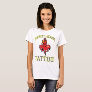 Pierced Hearts Tattoo T-Shirt Two Sided