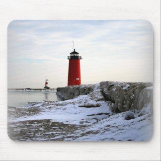 Pierhead Lighthouse, Kenosha Wisconsin Mousepad
