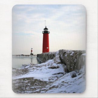 Pierhead Lighthouse, Kenosha Wisconsin Mouse Pad