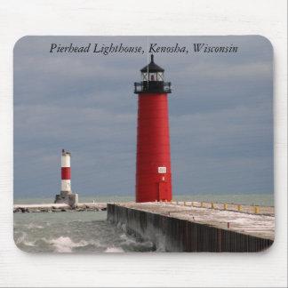 Pierhead Lighthouse Kenosha Wisconsin Mouse Mat