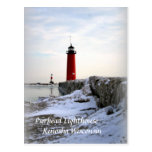 Pierhead Lighthouse, Kenosha Wisconsin Postcard