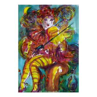 PIERO Venetian Carnival Night Print