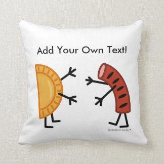 Pierogi & Kielbasa (Customizable) Throw Pillow