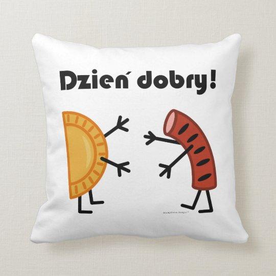 Pierogi & Kielbasa - Dzien Dobry! Throw Pillow