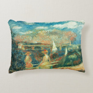 Pierre A Renoir   Banks of the Seine at Argenteuil Accent Pillow