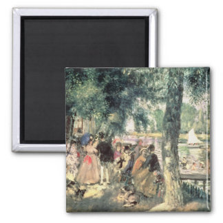 Pierre A Renoir | Bathing on the Seine  Square Magnet