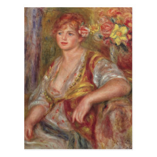 Pierre A Renoir | Blonde Woman with a Rose Postcard
