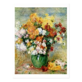 Pierre A Renoir | Bouquet of Chrysanthemums Postcard