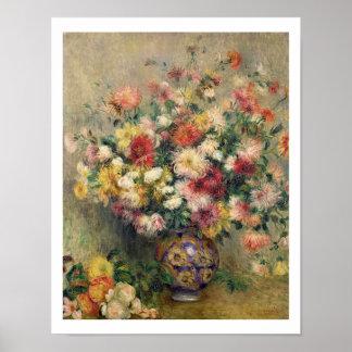Pierre A Renoir | Dahlias Poster