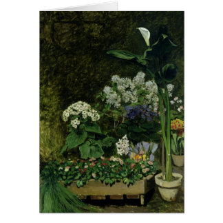 Pierre A Renoir | Flowers in a Greenhouse Card
