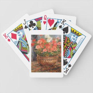 Pierre A Renoir | Geraniums in a Copper Basin Poker Deck
