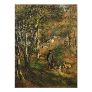 Pierre A Renoir | Jules Le Coeur in the Forest Poster