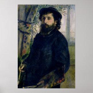 Pierre A Renoir | Portrait of Claude Monet Poster