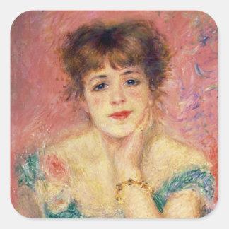 Pierre A Renoir   Portrait of Jeanne Samary Square Sticker