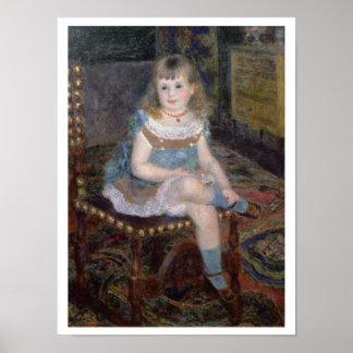 Pierre A Renoir | Portrait of Mlle. G. Charpentier Poster