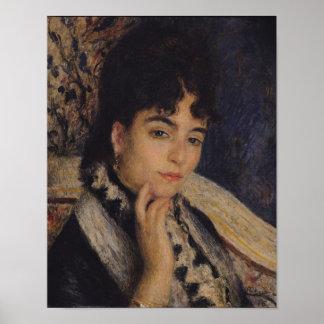 Pierre A Renoir | Portrait of Mme. Alphonse Daudet Poster