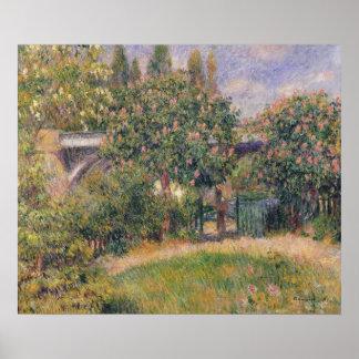 Pierre A Renoir | Railway Bridge at Chatou Poster