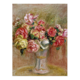Pierre A Renoir | Roses in a Sevres vase Postcard
