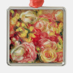 Pierre A Renoir   Roses Metal Ornament