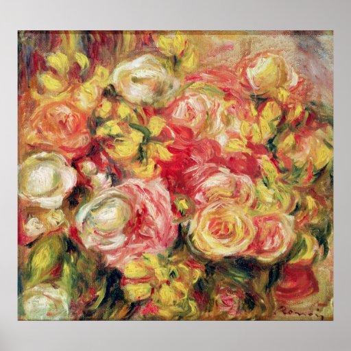 Pierre A Renoir   Roses Poster