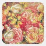 Pierre A Renoir   Roses Square Sticker