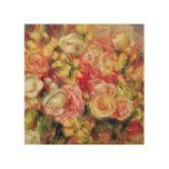 Pierre A Renoir   Roses Wood Print