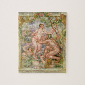 Pierre A Renoir   Saone flowing into the Rhone Jigsaw Puzzle