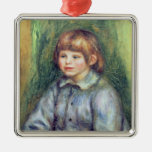 Pierre A Renoir | Seated Portrait of Claude Renoir Metal Ornament