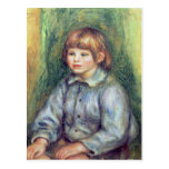 Pierre A Renoir | Seated Portrait of Claude Renoir Postcard
