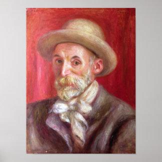 Pierre A Renoir | Self portrait Poster