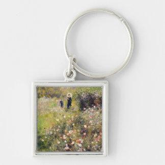 Pierre A Renoir | Summer Landscape Silver-Colored Square Keychain