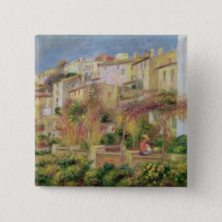 Pierre A Renoir | Terrace in Cagnes 2 Inch Square Button