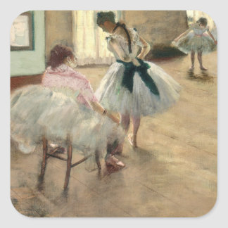 Pierre A Renoir | The Dance Lesson Square Sticker