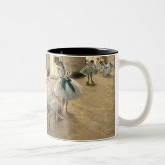 Pierre A Renoir   The Dance Lesson Two-Tone Coffee Mug