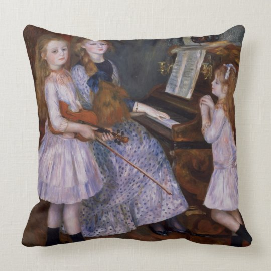 Pierre A Renoir | The Daughters of Catulle Mendes Throw Pillow