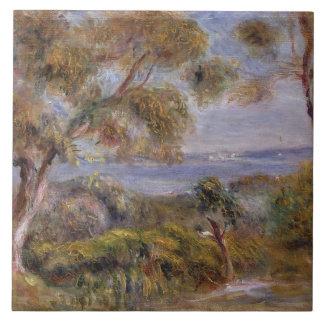 Pierre A Renoir   The Sea at Cagnes Tile